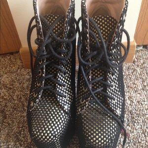 """Jeffrey Campbell """"Lita-Mesh"""" platform boots"""